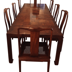 Henredon Asian Dining Chairs Office Chair Ireland Modern Walnut Set Chairish