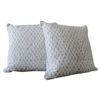 Trellis Accent Pillows - A Pair | Chairish