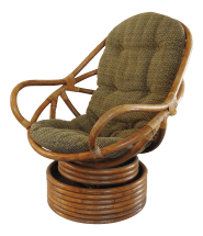 Mid Century Modern Swivel Rattan Pretzel Chair Chairish