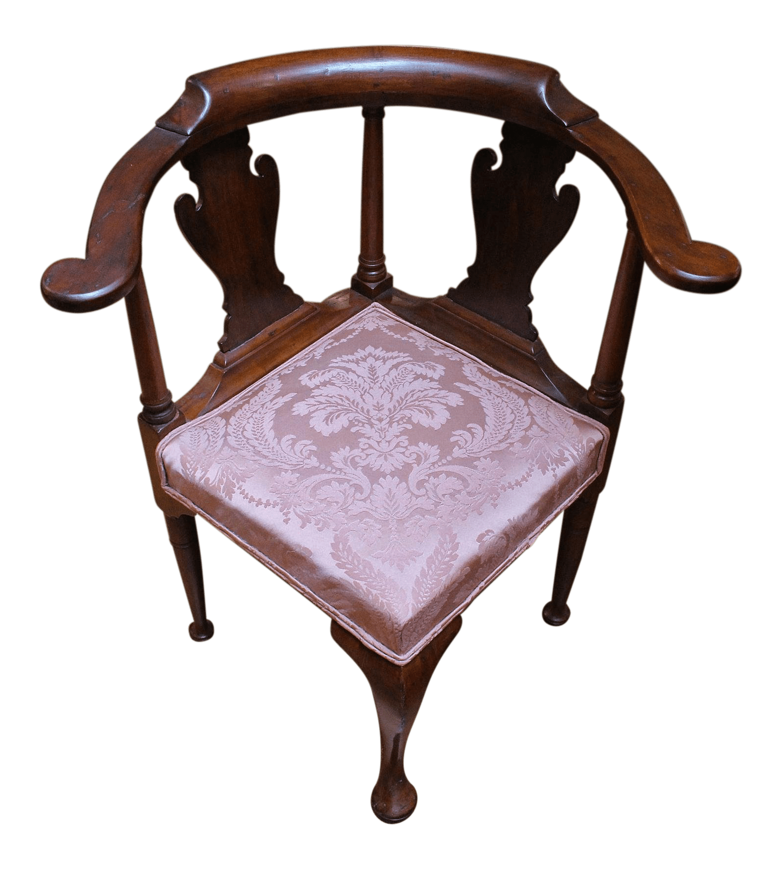 antique queen anne chair sex sofa mid 18th century style corner chairish