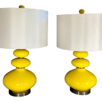 Yellow Mid Century Modern Lamps A Pair