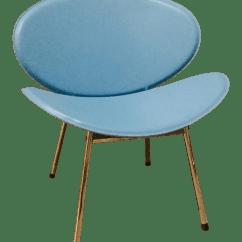 Turquoise Lounge Chair Ergonomic Edmonton Mid Century Vinyl Orange Slice Chairish