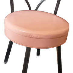 Pink Vanity Chair Round Reading Reflectone Stool Lucite Legs And Back W Seat