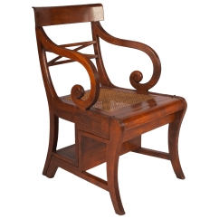 Library Chair Ladder Fingal Swivel High End Early 20th Century Regency Style Metamorphic Armchair Or Decaso