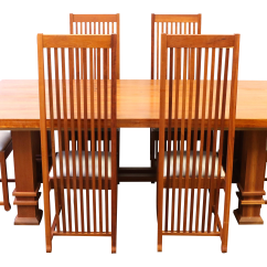 Frank Lloyd Wright Chairs Mickey Mouse Table And Target Style Cherry Wood Dining Room Set Chairish
