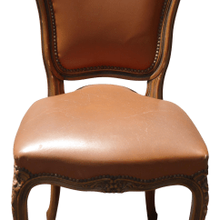 French Provincial Adele Occasional Chair Cover Rentals In Chennai Style Brown Leather Accent Chairish