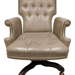 Posture Executive Leather Chair Wooden Yard Chairs Chairish