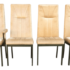 High Back Dining Chair Wedding Cover Hire Suffolk Milo Baughman Style Highback Chromcraft Chairs Set Of 4 Chairish