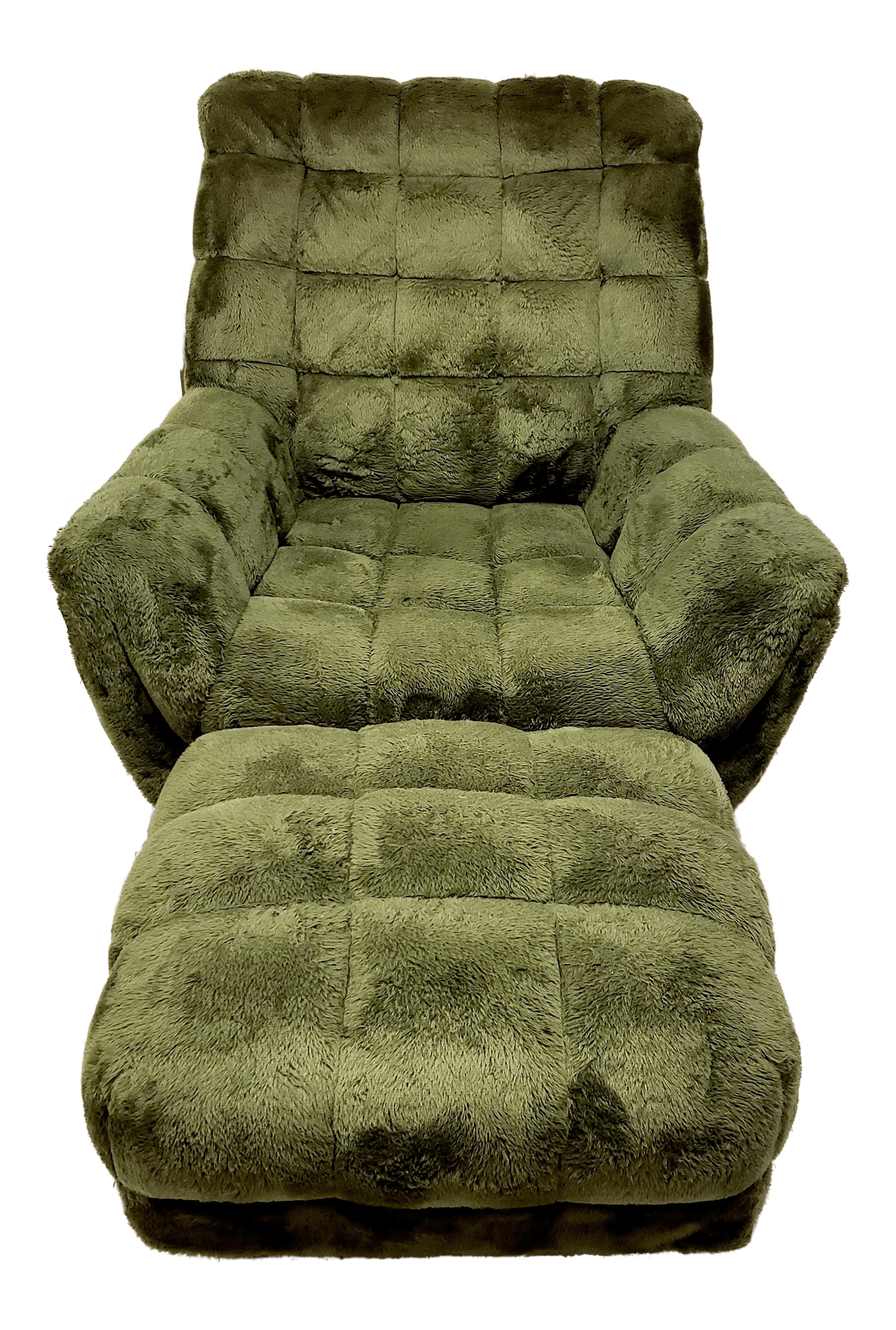Sears Accent Chairs 1970 S Adrian Pearsall Style Green Tufted Lounge Chair Matching Ottoman