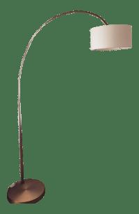 West Elm Bronze Arc Lamp | Chairish
