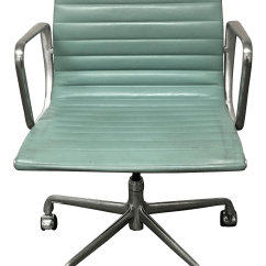 Desk Chair Teal Cover Rentals Peterborough Ontario Eames Style Office Chairish