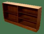 1960s Danish Modern Solid Teakwood Low Mid Century Modern Bookcase Cabinet 2 Chairish