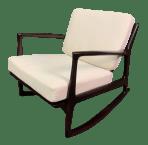 Vintage Danish Mid Century Modern Rocking Chair By Kofod Larsen For Selig Chairish
