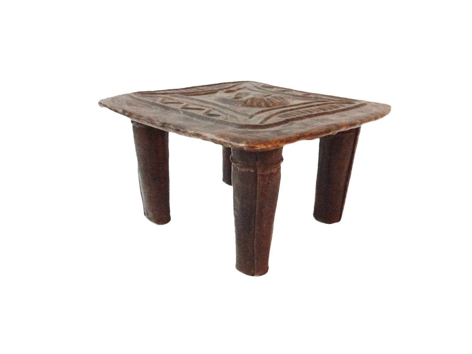 stool chair ghana tufted white old bronze brass ashanti tribe chairish