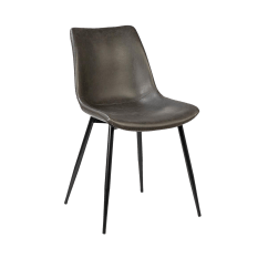 Metal Frame Leather Dining Chair Gold Covers For Hire Modern Classic Chairish