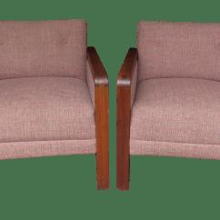 Wh Gunlocke Chair Covers Wedding Edinburgh Vintage 1970s W H Co Lounge Armchairs A Pair Chairish