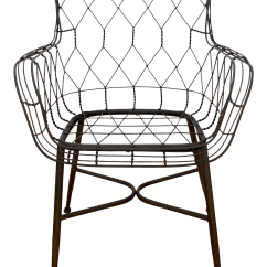 Black Wire Chair Folding Lounge Walmart Accent Chairish For Sale