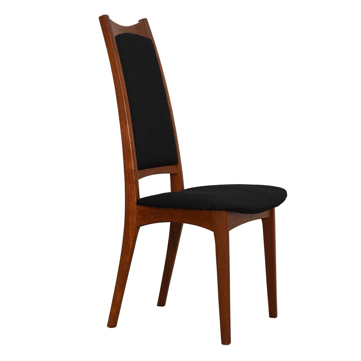 tall back dining chairs chair gym ab workout moreddi danish teak w black upholstery a wonderful set of 8 modern for high style