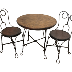 Ice Cream Table And Chairs Leather Club Nebraska Furniture Mart Vintage Child S Parlor Set Chairish For Sale