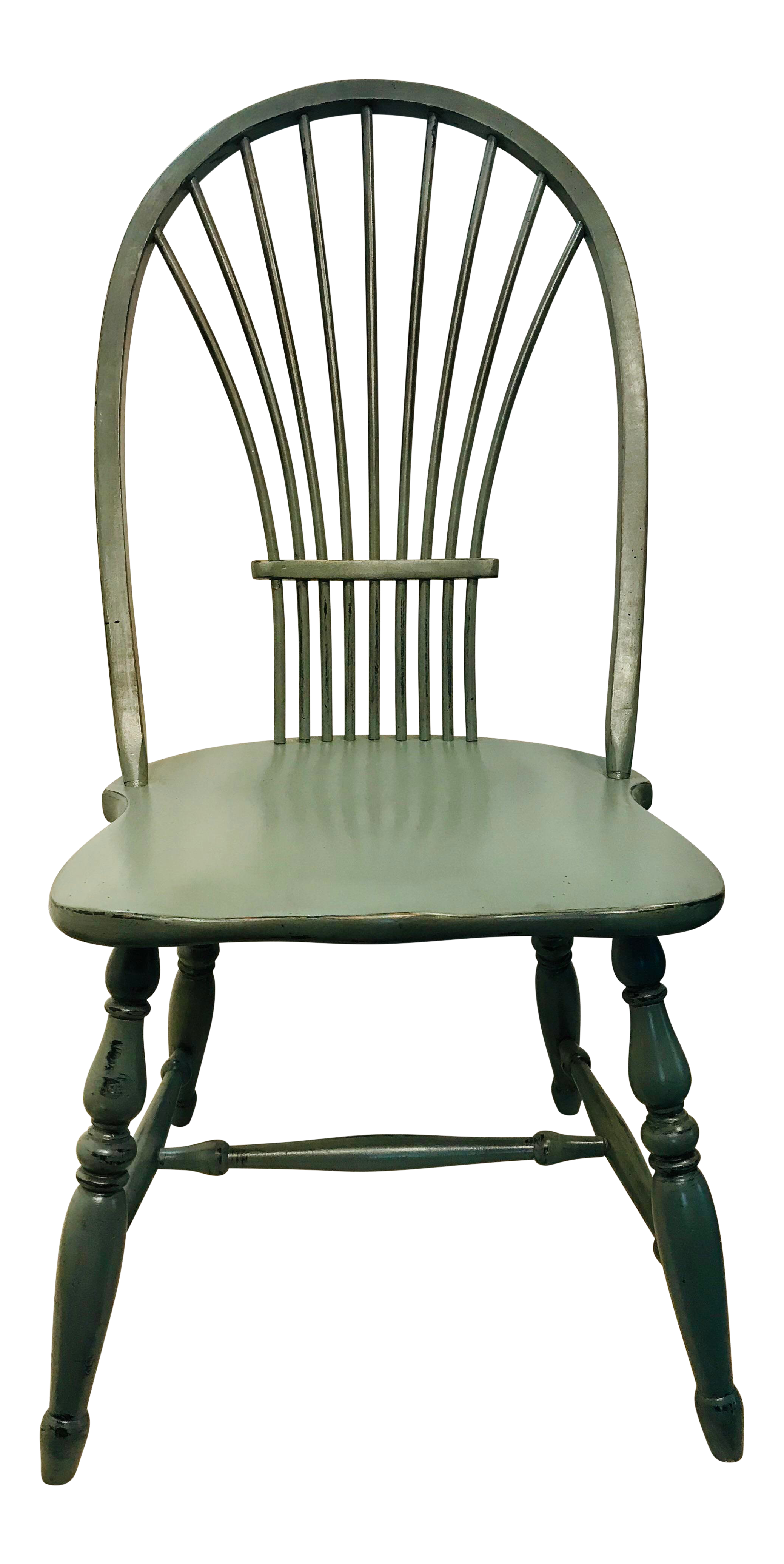 windsor chair with arms crocker company vintage used chairs for sale chairish 1970s celedon painted