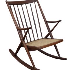 Danish Modern Rocking Chair Christmas Covers Nz Frank Reenskaug Bramin Chairish