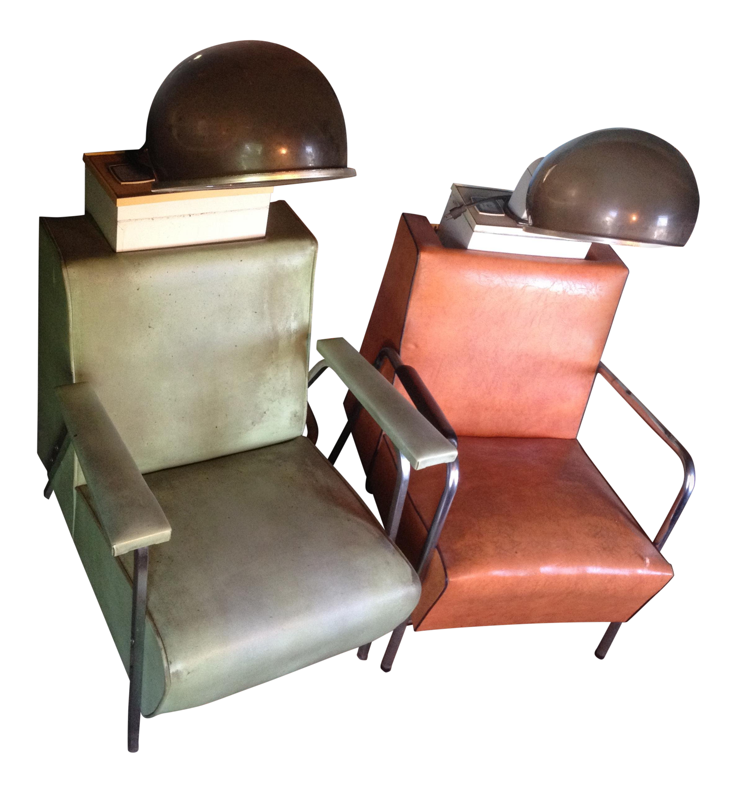 dryer chairs salon halloween electric chair vintage bubble a pair chairish for sale