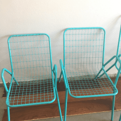 Turquoise Patio Chairs Office Chair Piston 1950s Vintage Emu Industrial Metal Aqua Set Of 4 For Sale In Palm