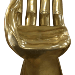 Wood Hand Chair Slipper Cover Lovely Brass Clad Pedro Friedeberg Sculpture Decaso For Sale