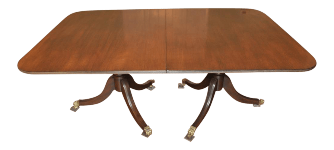 Kittinger Colonial Williamsburg Dining Table  Chairish