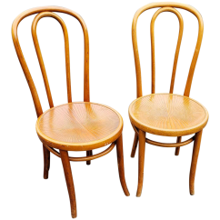 Vintage Bentwood Chairs Chair Revolving Steel Base With Wheels 1950s A Pair Chairish