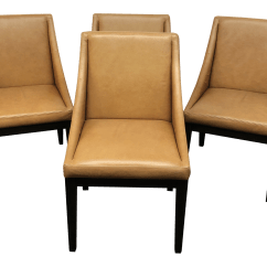 West Elm Everett Chair Gold Covers Gently Used Furniture Up To 50 Off At Chairish Leather Slope Dining Chairs By Set Of 4 For Sale