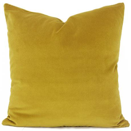 saffron yellow velvet pillow cover