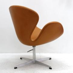 Arne Jacobsen Swan Chair How To Repair Patio Chairs Model 3320 Brown Leather Chairish Aluminum For Sale Image 7 Of 13