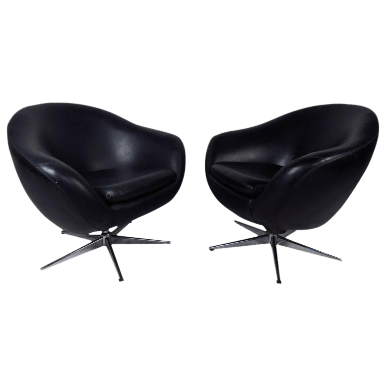 swivel pod chair cheap covers china overman style vintage modern chairs a pair chairish for sale