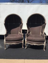 Restoration Hardware Versailles Dome Chairs - Pair | Chairish