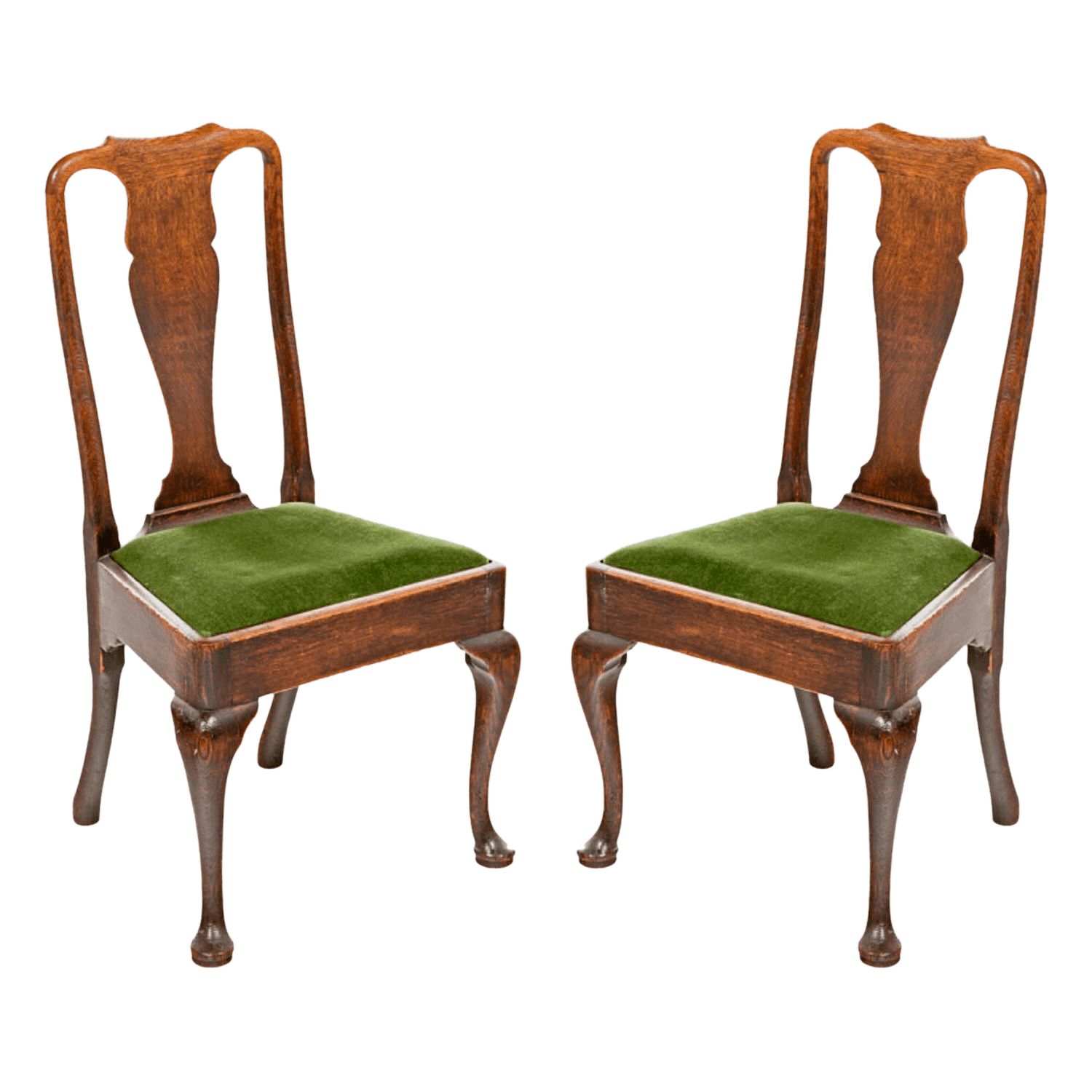 queen ann chairs hay about a chair aac22 replica vintage used anne accent chairish 18th century oak pair for sale