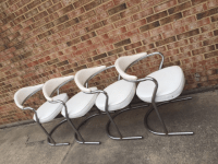 Mid-Century Modern Tubular Chrome Dining Chairs- Set of 4 ...