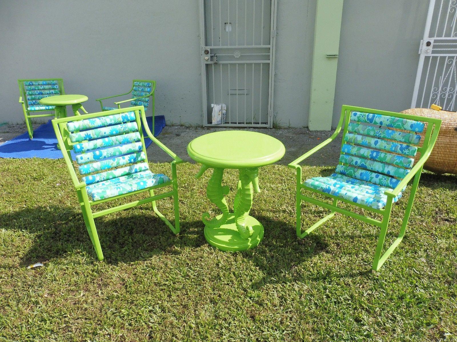 60 s vintage samsonite wrought iron patio set