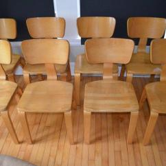 Bentwood Dining Chair Potty Seat Or Chairs By Thonet Of Rock Maple And Set 8 Chairish For Sale