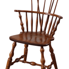 Windsor Chair With Arms Efavormart Black Covers Vintage Used Chairs For Sale Chairish Late 20th Century Nichols Stone Comb Back Arm
