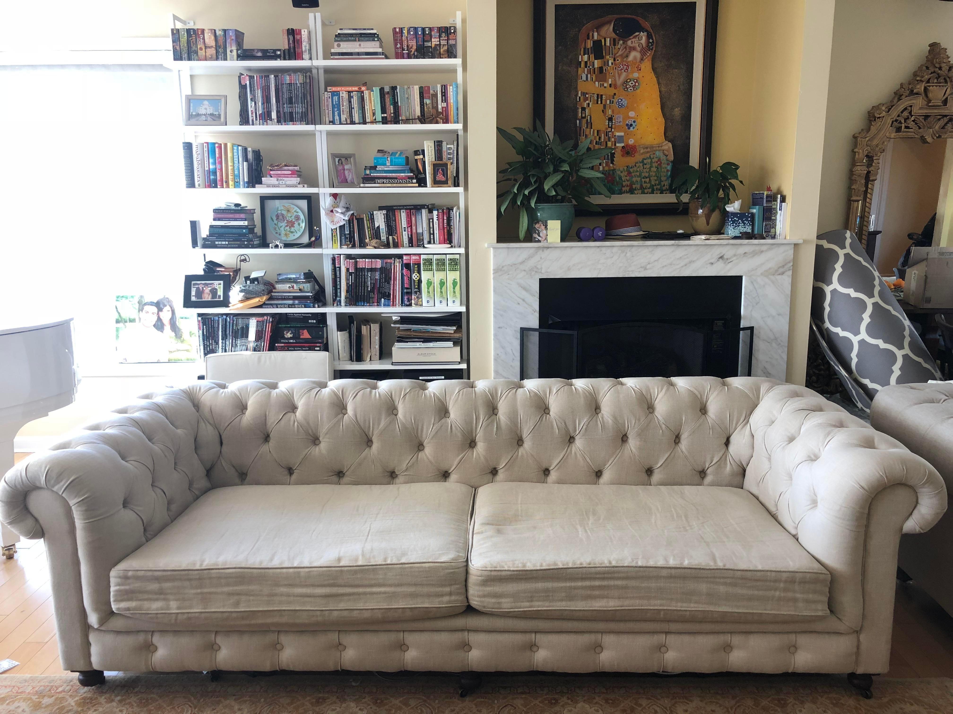 belgian linen sofa t cushion slipcovers canada restoration hardware 9 luxe kensington chairish for sale in new york image