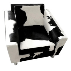 Black And White Cowhide Chair Rocking Ikea Sophisticated Vintage Brazilian Decaso For Sale