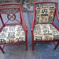 Dining Chairs Set Of 4 Target Lazy Boy Leather Vintage Mcguire Rattan Back 6 Chairish For Sale Image