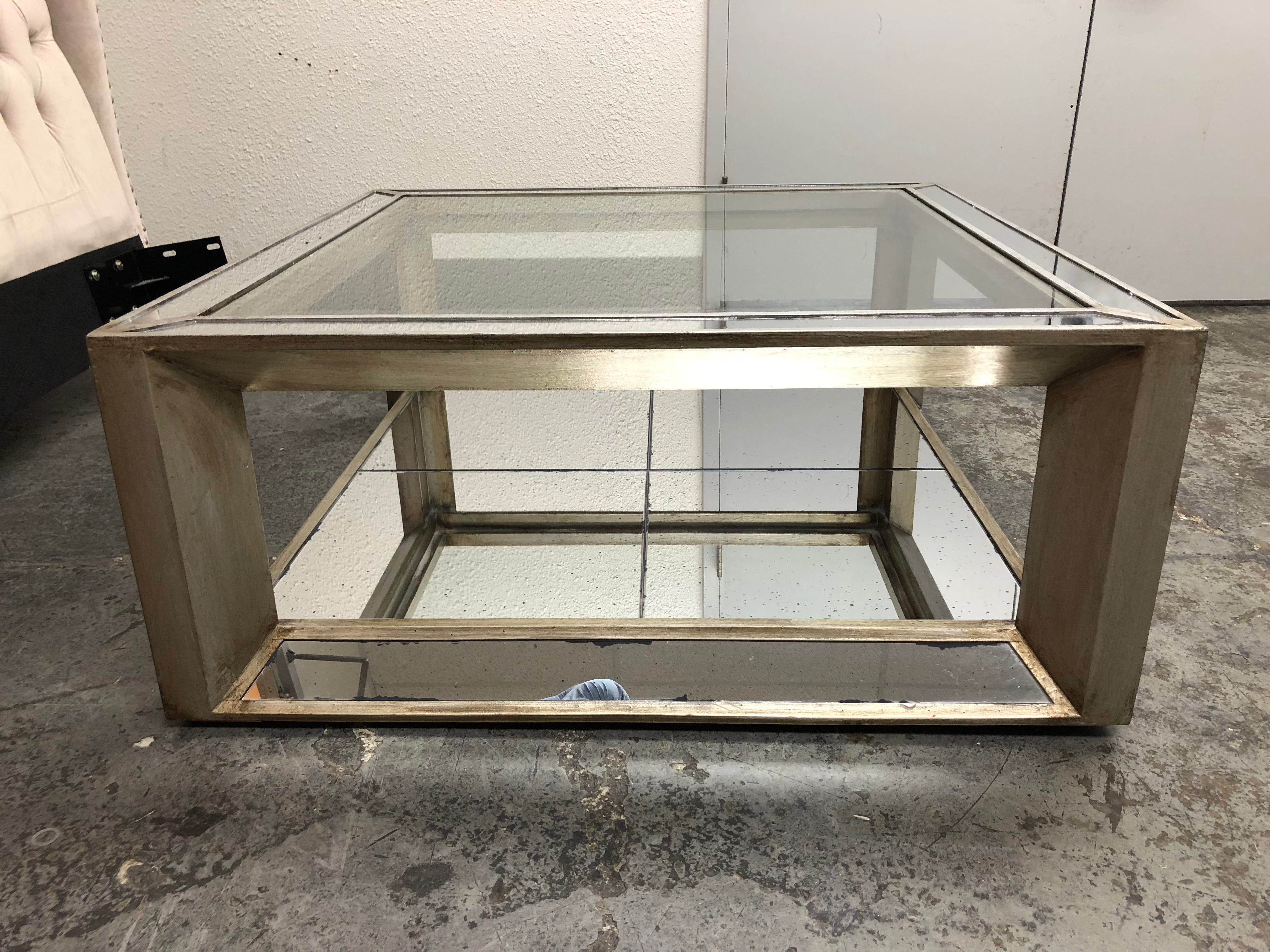 z gallerie pascual mirrored cocktail table