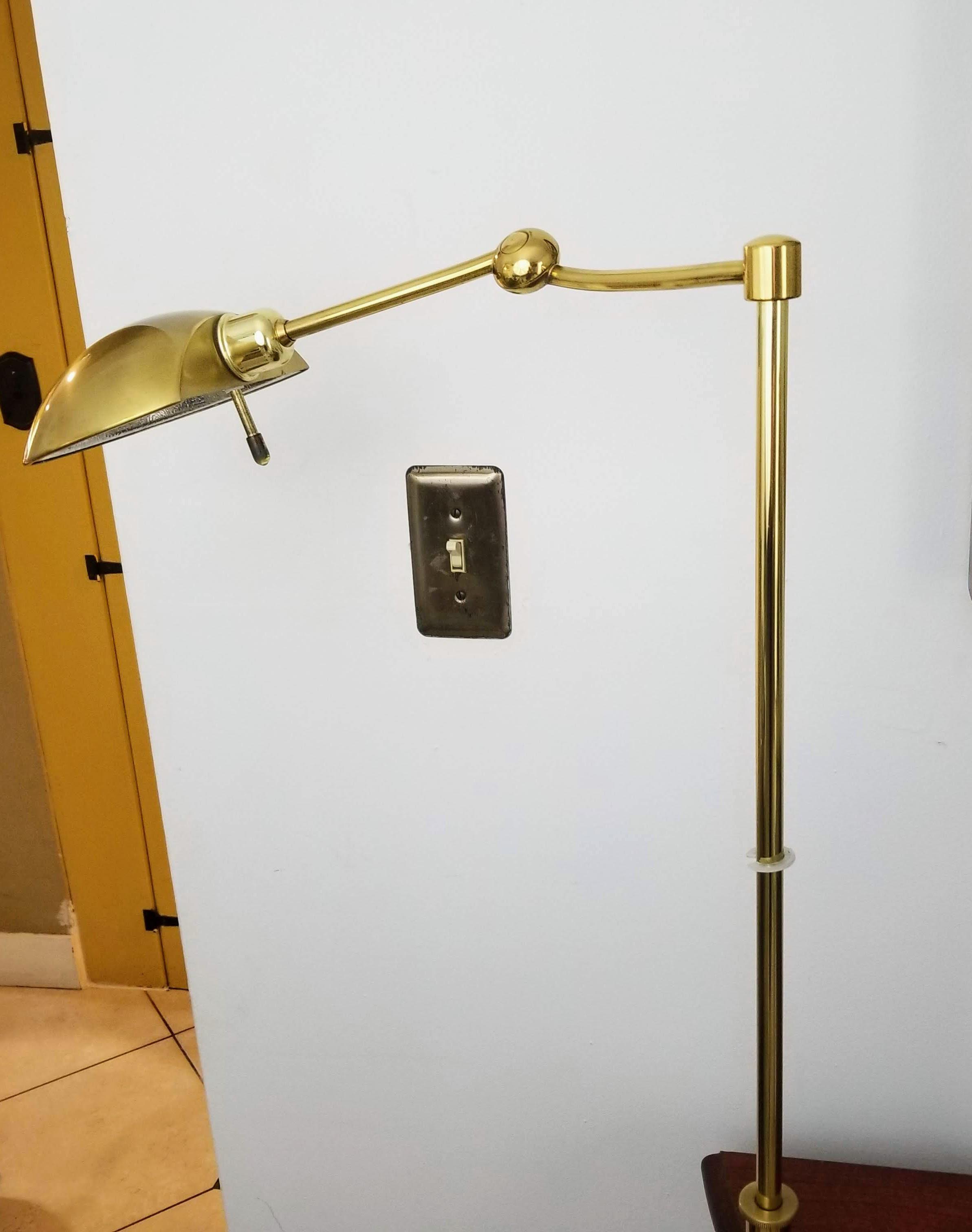 HoltKotter Leuchten 1970&39;s Brass Apothecary Floor Lamp ...