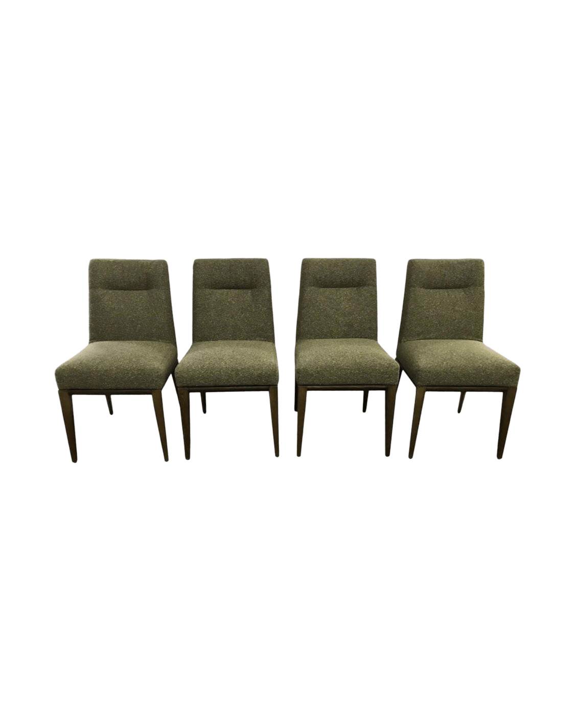 Calligaris Dining Chairs Calligaris Italy Olive Tweed Weave Upholstered Dining Chairs Set Of 4