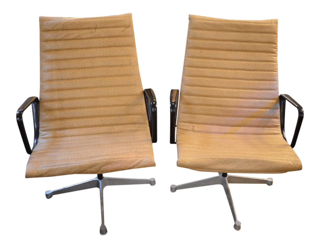 vintage office chairs leather lounge used for sale chairish
