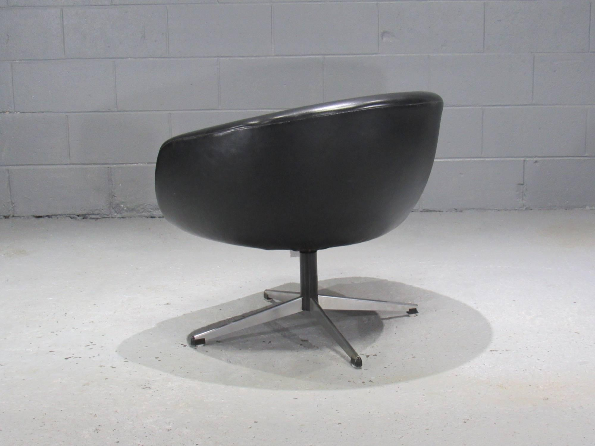swivel pod chair restaurant chairs wholesale superb black by overman decaso sweden for sale image 4 of 6