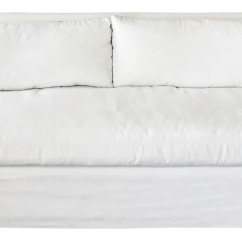 Petite Belgian Track Arm Slipcovered Sofa Spray To Stop Cats Scratching Restoration Hardware 7 In White Perennials Fabric