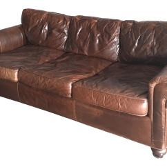 112 Lancaster Leather Sofa Cierre Denver Restoration Hardware Original